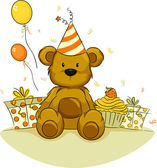 Bear Birthday — Stock Photo