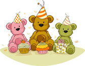 Bear Birthday, — Stock Photo