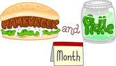 Hamburger and Pickle Month — Stock Photo