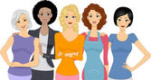 Grupo de mulheres — Foto Stock