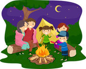 Family Bonfire — 图库照片