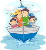Rodzina podróży statkiem — Zdjęcie stockowe
