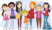Mulheres de gerações diferentes — Foto Stock
