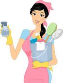 Cleaning Girl — Stock Photo