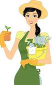 Gardening Girl — Stock Photo