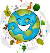 Earth Mascot — Stock Photo