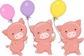 Pig Balloons — Stock Photo