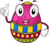 Easter Egg Mascot — Stock Photo