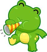 Frog Making Noise — Stock Photo
