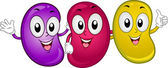 Jellybean Mascots — Stock Photo