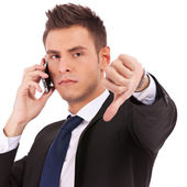 Bad news on cell phone — Stock Photo