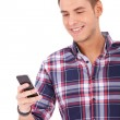 Student Texting on Cell Phone — Stock Photo #10576781