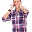 Man With Thumbs Up on the phone — Stock Photo #10576801