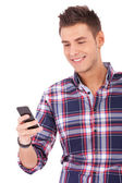 Student Texting on Cell Phone — Stock Photo