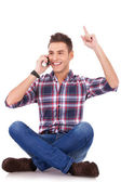 Ecstatic and happy on the phone — Stock Photo