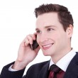 Business man speaking over cellphone — Stock Photo #8403111