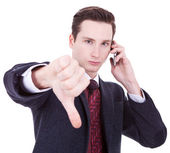 Business man with bad news — Stock Photo