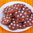 Fresh brown  cookies - Stock Photo