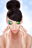 Fashion style, manicure, cosmetics and make-up — Stock Photo