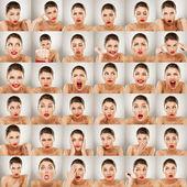 Espressioni collage — Foto Stock