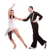 Dinámica bailarines latinos en una pose sensual — Foto de Stock