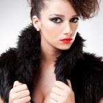 Beautiful fashionable woman in fur — Stock Photo #9202158