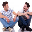 Stock Photo: Two men friends looking one at the other