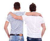Back view of two friends — Stock Photo