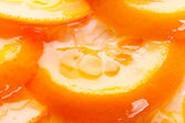 Orange cake with gelatin toping — Stock Photo
