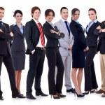 Успешный бизнес счастливы команда — Стоковое фото