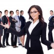 Stock Photo: Welcome to successful happy business team