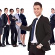 team di business di successo felice — Foto Stock