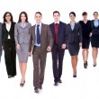 Successful happy business team walking — Stock Photo #9690705