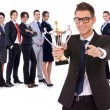 Winning business team — Stock Photo