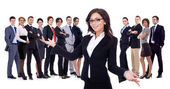 Welcome to the successful happy business team — Stock Photo