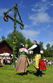 Midsummer in Sweden — Stock Photo