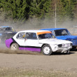 Folkrace at old wrecked cars — Stock Photo
