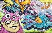 Muro di graffiti — Foto Stock