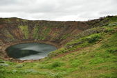 Kerid, volcanic crater lake, Iceland — Stock Photo