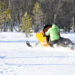 Snowmobile rider — Stock Photo