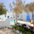 Santorini Pool House — Stock Photo