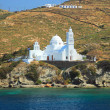 Greek island classic church cyclades — Stock Photo