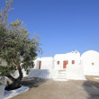 Stock Photo: Oitraditional church styles in Santorini island