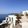 Village of Oia at Santorini island in the Cyclades — Stock Photo