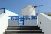 Windmill on Santorini island — Stock Photo