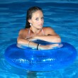 Attractive girl in the pool — Stock Photo #8202128