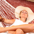 Woman relaxing in the afternoon - Foto Stock