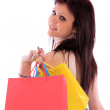 Woman with colorful shopping bags — Stock Photo #8203245