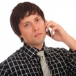 Young business man over the cellphone — Stock Photo