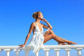 Beautiful woman in Greece — Stock Photo
